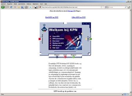 De eerste website van KPN