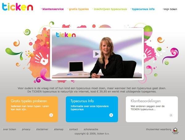 TICKEN-typecursus-homepage