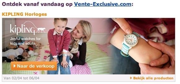 Vente exclusive com kipling