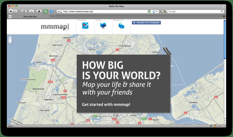 MakeMyMap.org: persoonlijke web 3.0 geo-visualisator