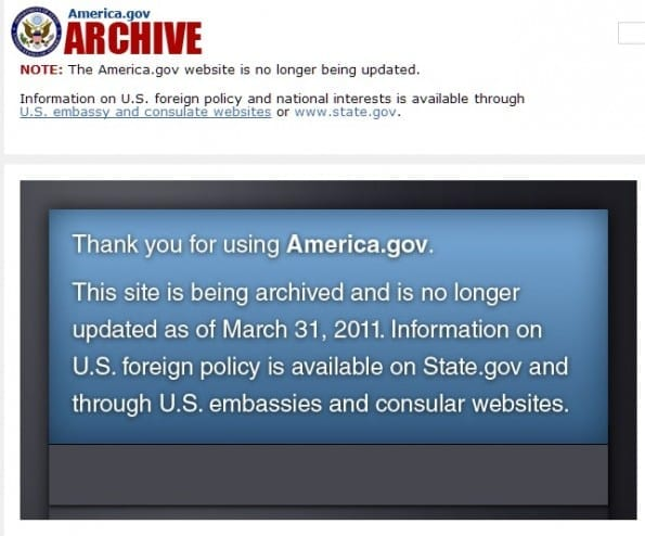 America.gov website is gestopt