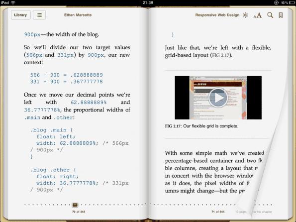 Een bladzij omslaan op een iPad