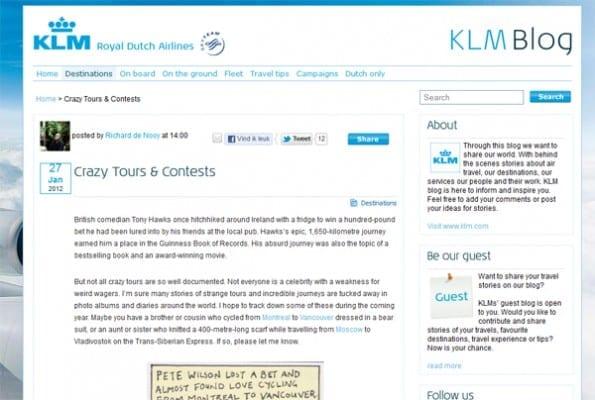 KLM blog