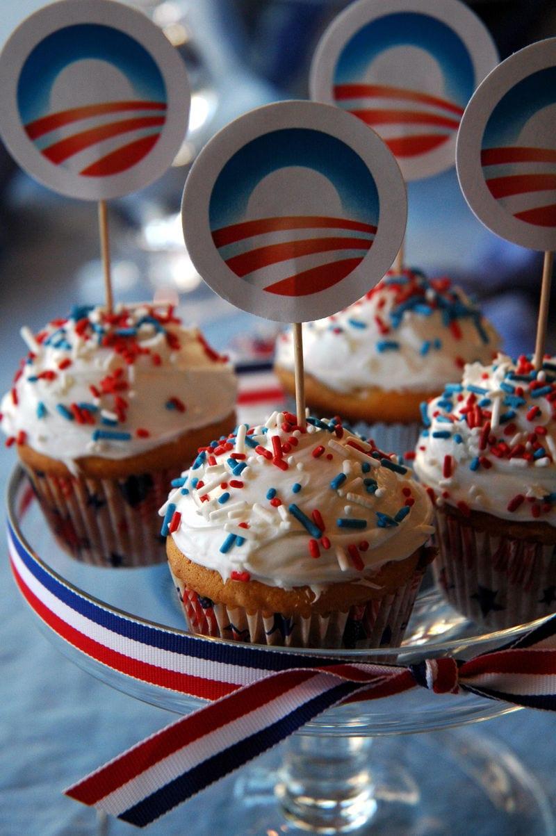 Obama cupcakes