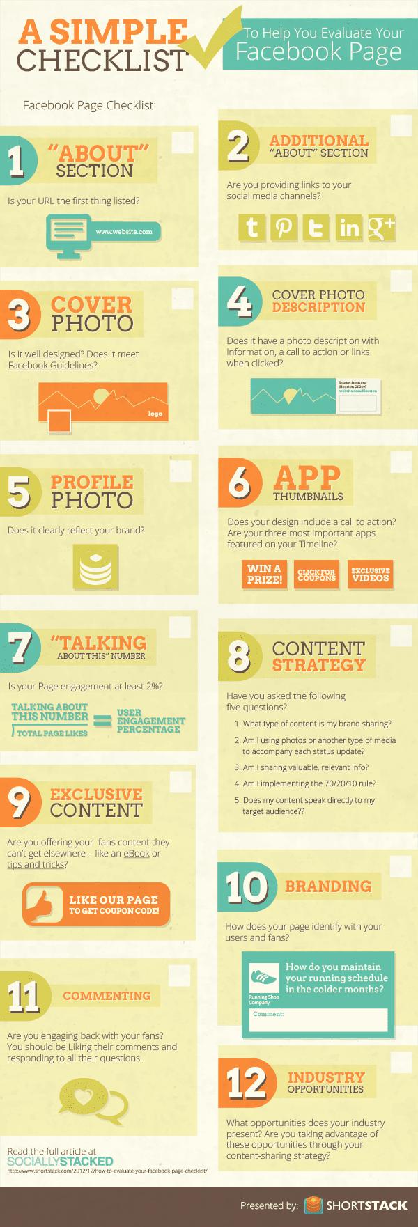 Checklist om je Facebookpagina te evalueren [infographic]