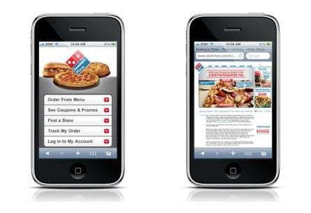 Mobile site vs gewone site