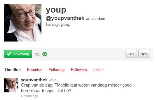 Twitter - Youp van 't Hek