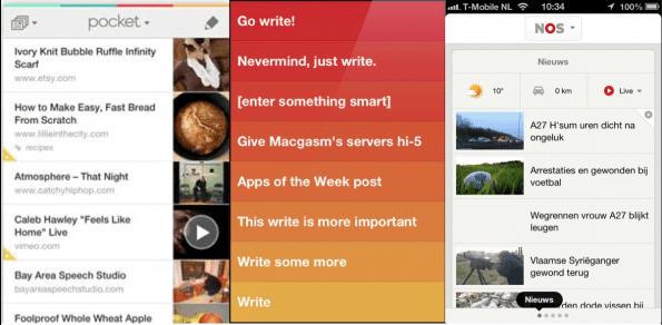 Apps die op één gebruikerstaak focussen, worden door gebruikers hooggewaardeerd (Pocket – Clear – NOS)