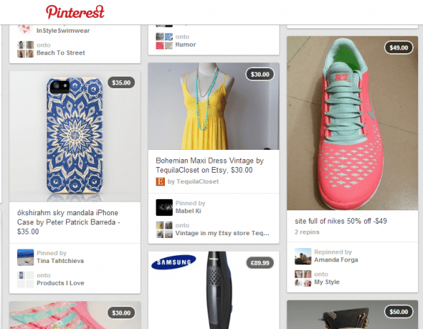 Tip: voeg prijsbanners toe aan je producten op Pinterest