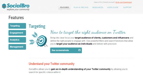 SocialBro: een van de tools die uitgelegd worden in 'Slimmer Online Samenwerken'