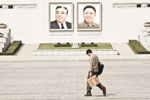 Foto: Kim Il-sung, Kim Jong-il; foto: Gabriel Prehn Britto