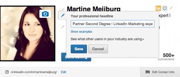 Headline LinkedIn