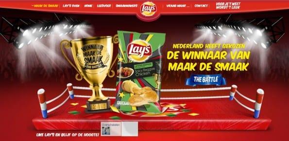 Lay`s chips maak de smaak actie
