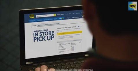 Klanten kunnen online bestelde producten bij Best Buy direct in een van de winkels ophalen.