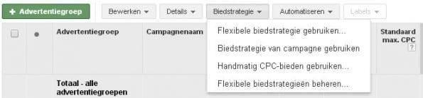 Biedstrategie-Advertentiegroep