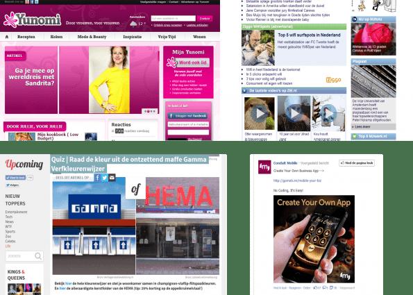Native advertising en contentmarkteting voorbeelden