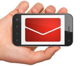 Finance concept: Email on smartphone
