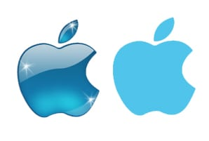 Apple logo flat