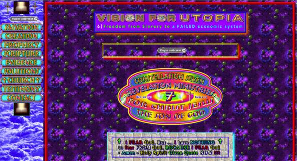 Voorbeeld van een te drukke website