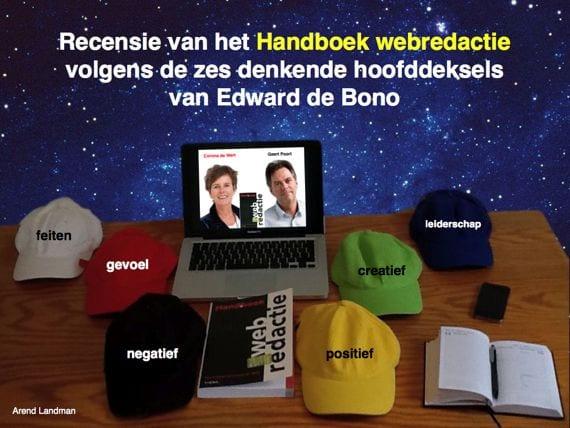 Edwarde de Bono zes denkende hoofddeksels recensie Handboek webredactie Geert Poort en Corona de Wit