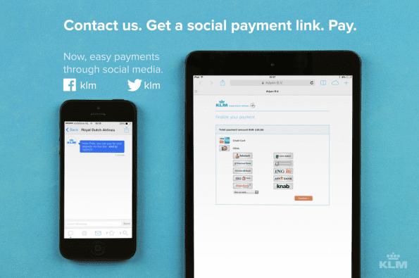 KLM betalen via social media