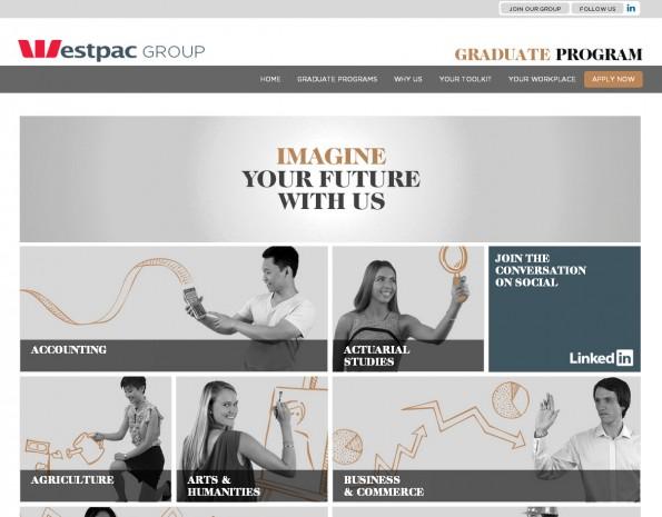 Westpac Graduates website homepage
