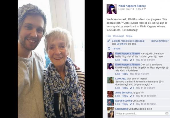 Kinki oudste klant Facebook