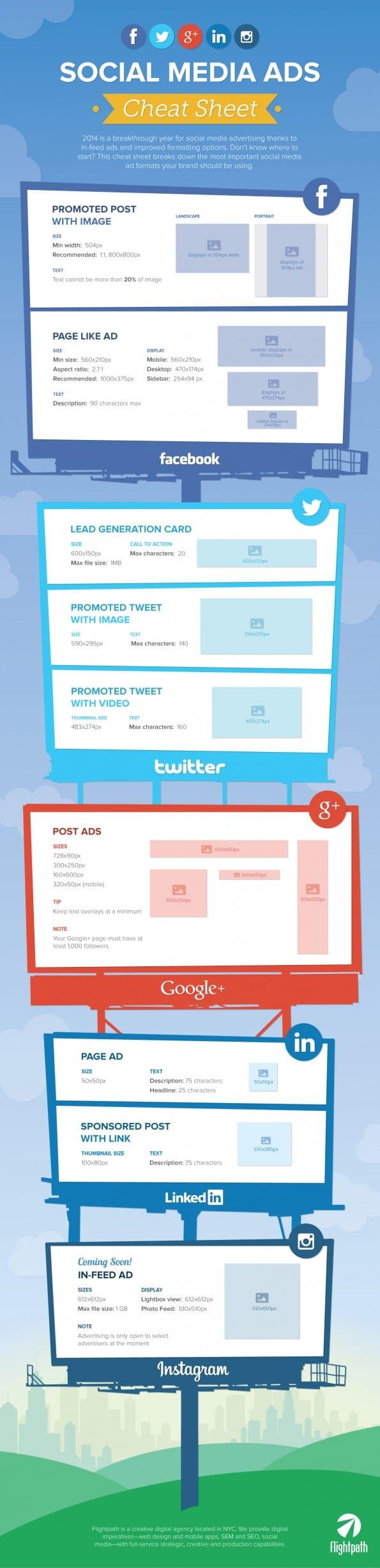Adverteren op social media - de ideale afmetingen op een rij [infogrpahic]