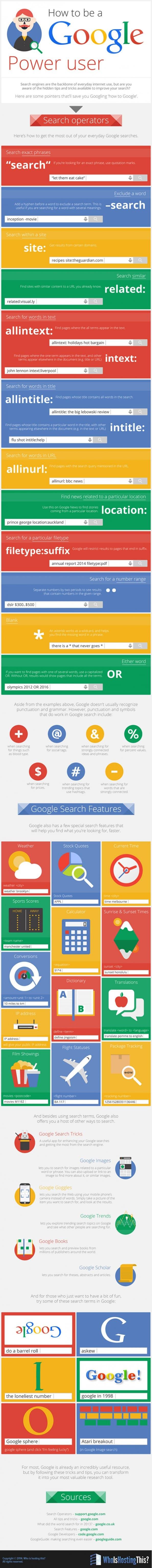 Effectiever zoeken in Google - tips & trics [infographic]
