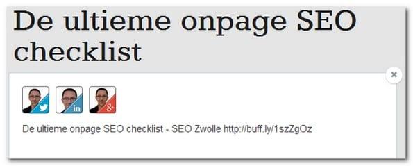 Promoot je content op meerdere platforms met Buffer, Hootsuite of Tweetdeck.