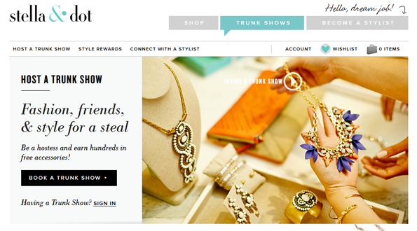 Trunkshows geven via Stella & Dot