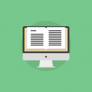 Online book flat icon illustration