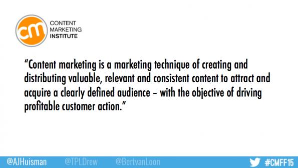 definitie contentmarketing CMFF15