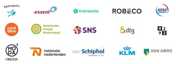 Selectie van bedrijven die WhatsApp zakelijk inzetten. Afbeelding: Estelle Wienk