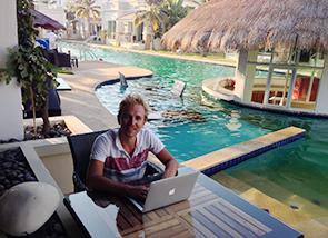 Tropische werkplekken met goed internet