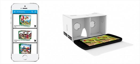 Shopping in Virtual Reality middels de gekoppelde platforms van CCV Shop en Smart2VR.