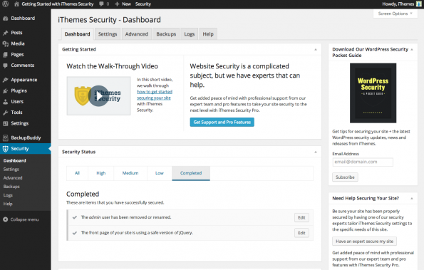iThemes-security-dashboard