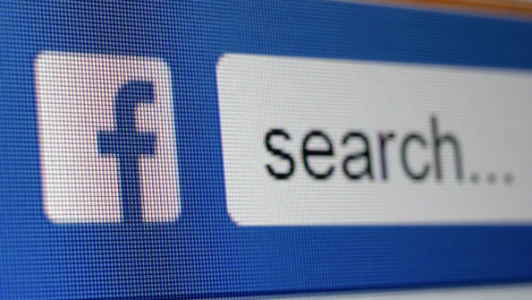 In-app search bij Facebook