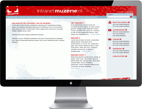 Muzerie intranet