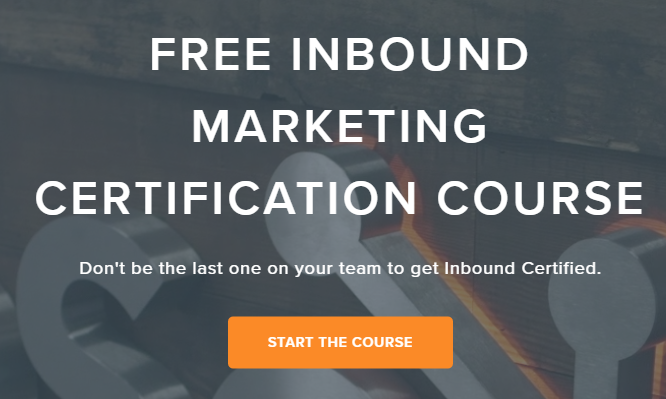 Free inbound marketing course van HubSpot