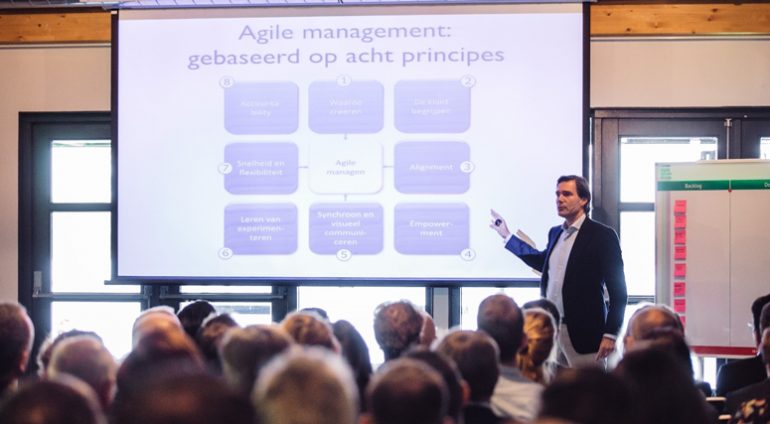 Agile Management Acht Principes Scrum Event 2016 voor non-it projecten door Agile Scrum Group