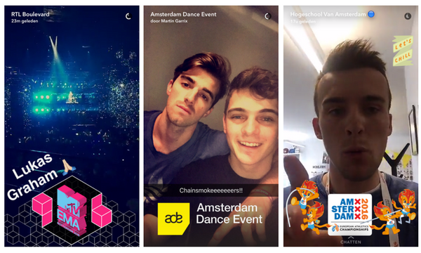 on-demand geofilters nederland