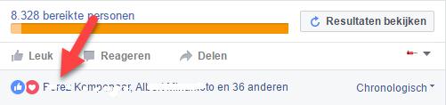Uitnodigen knop Facebook