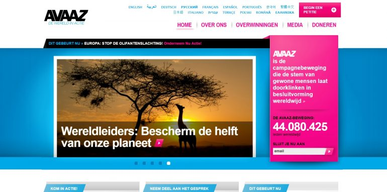 screenshot avaaz