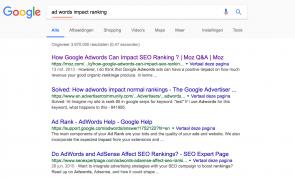 De Google zoekopdracht
