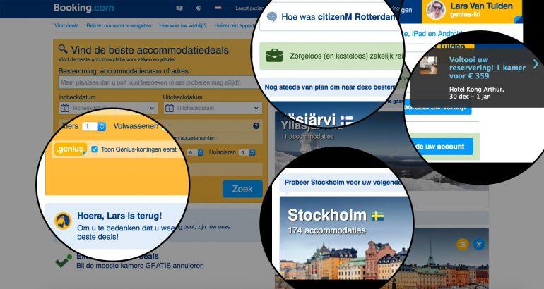 personalisatie booking.com