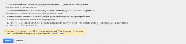 Ontwikkelingen Google AdWords