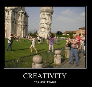 Je vertoont geen creativiteit